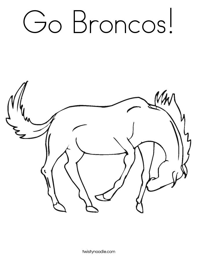 Go Broncos! Coloring Page
