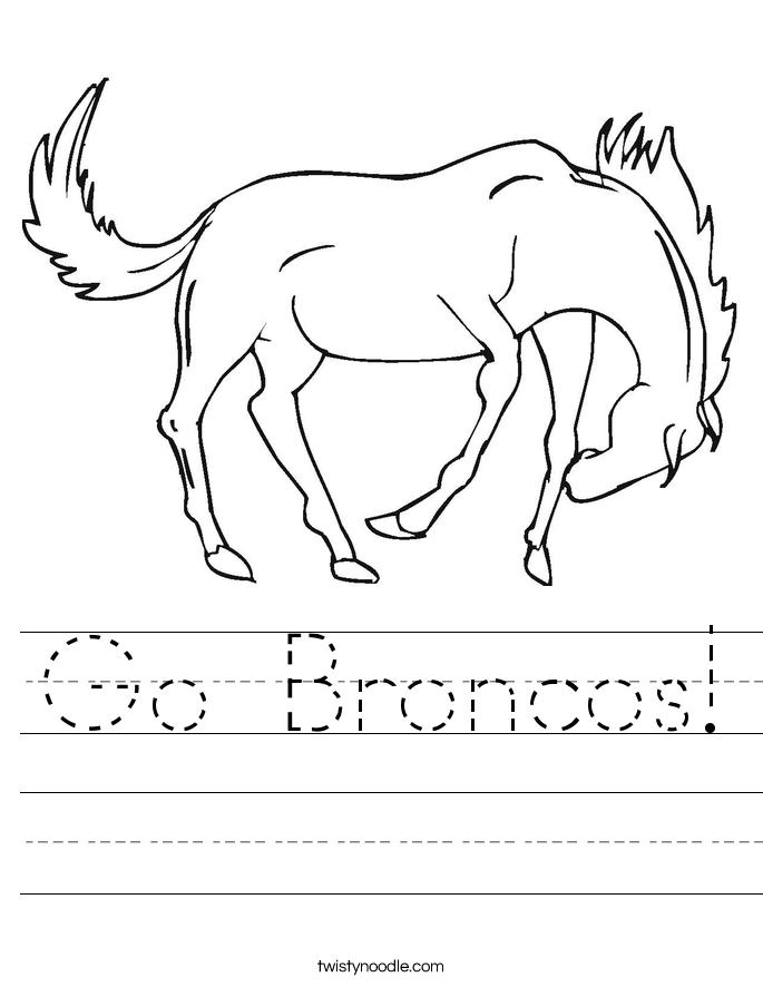 Go Broncos! Worksheet
