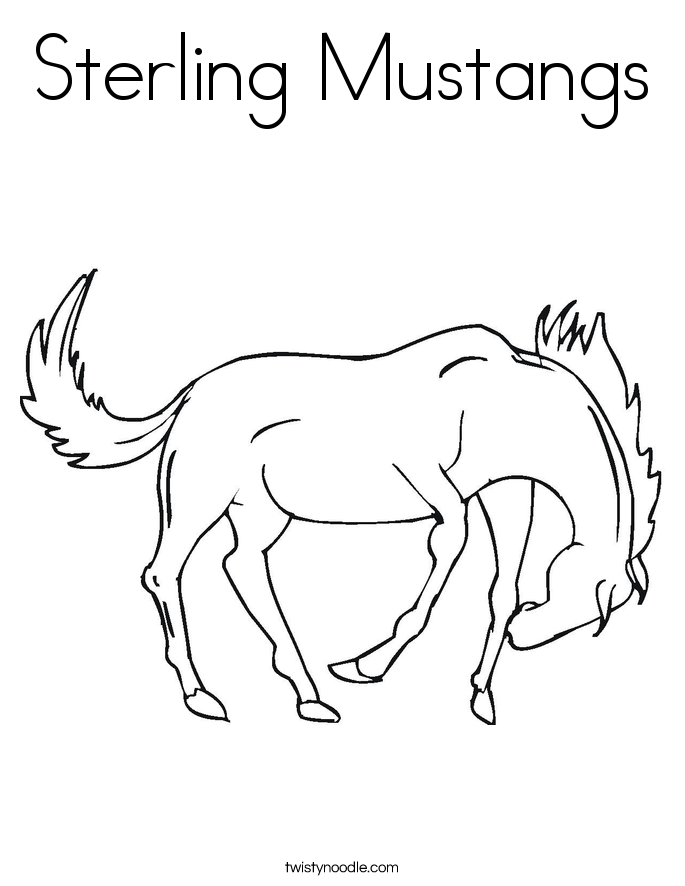 Sterling Mustangs Coloring Page