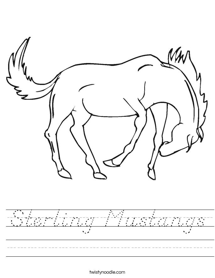 Sterling Mustangs Worksheet