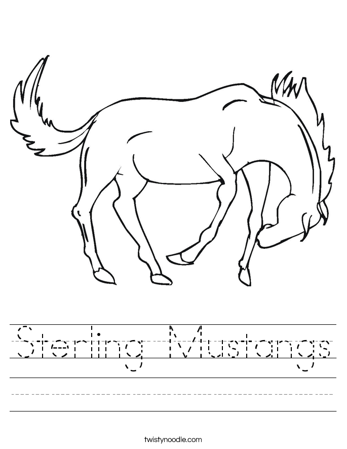 Sterling Mustangs Worksheet