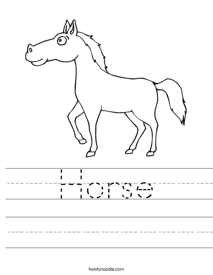 Horse Worksheet