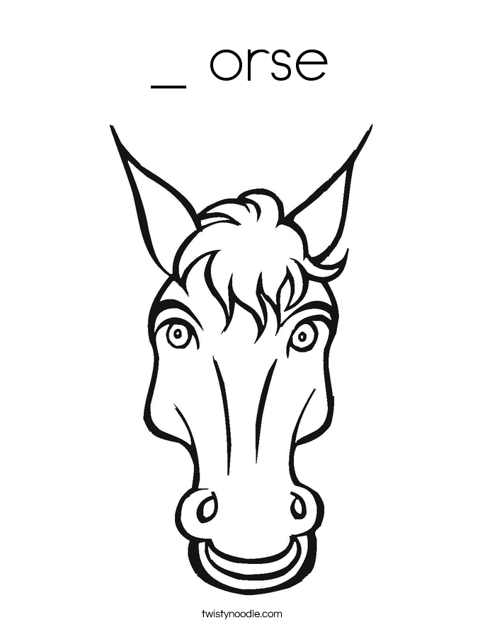 _ orse Coloring Page