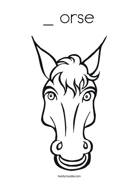 Horsing Around Coloring Page