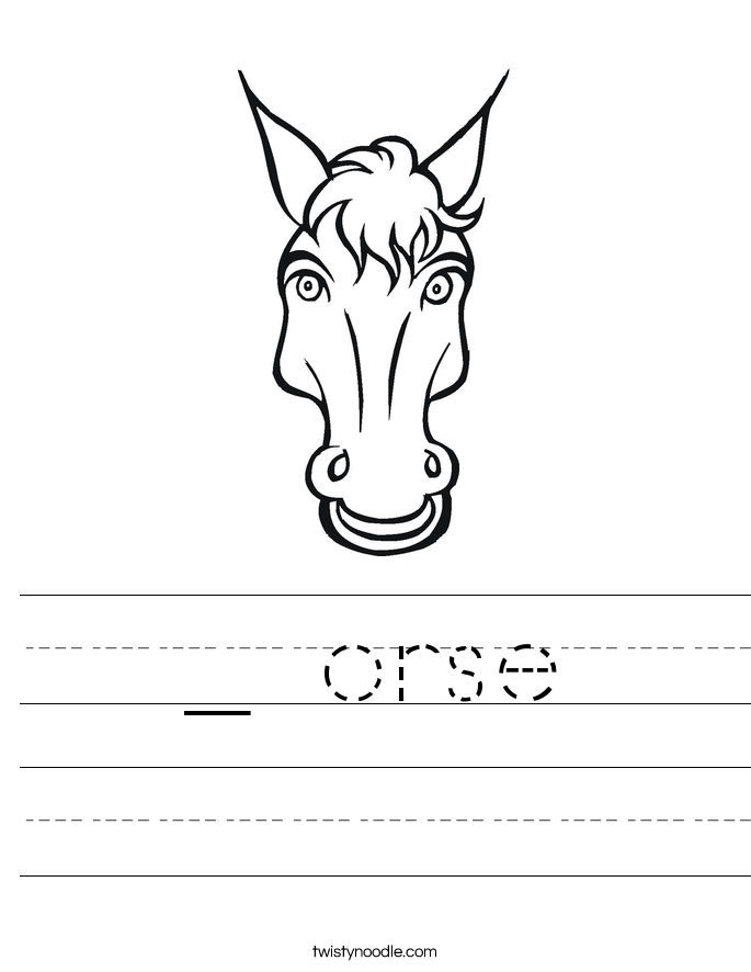 _ orse Worksheet