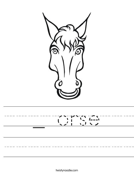 Horsing Around Worksheet