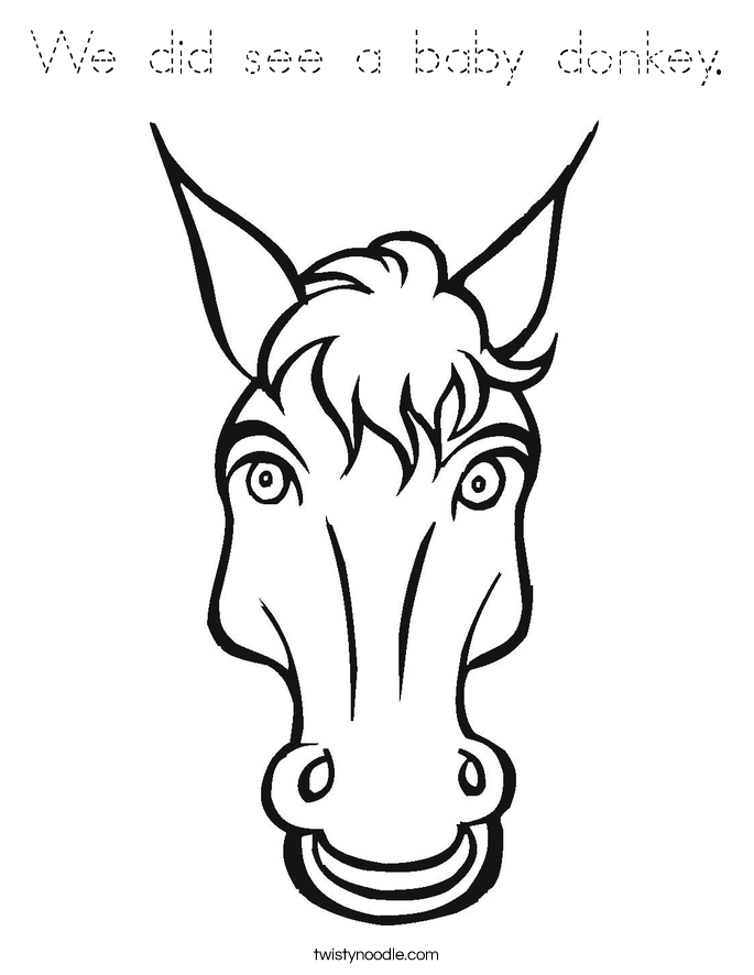 Bronco horse head free colouring pages for Donkey face mask template