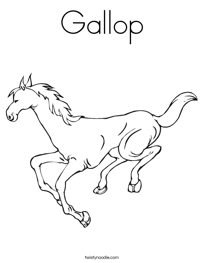 Gallop Coloring Page - Twisty Noodle