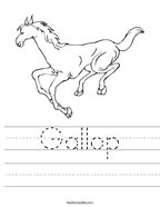 Gallop Handwriting Sheet