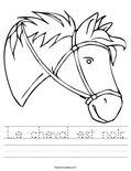 Le cheval est noir. Worksheet