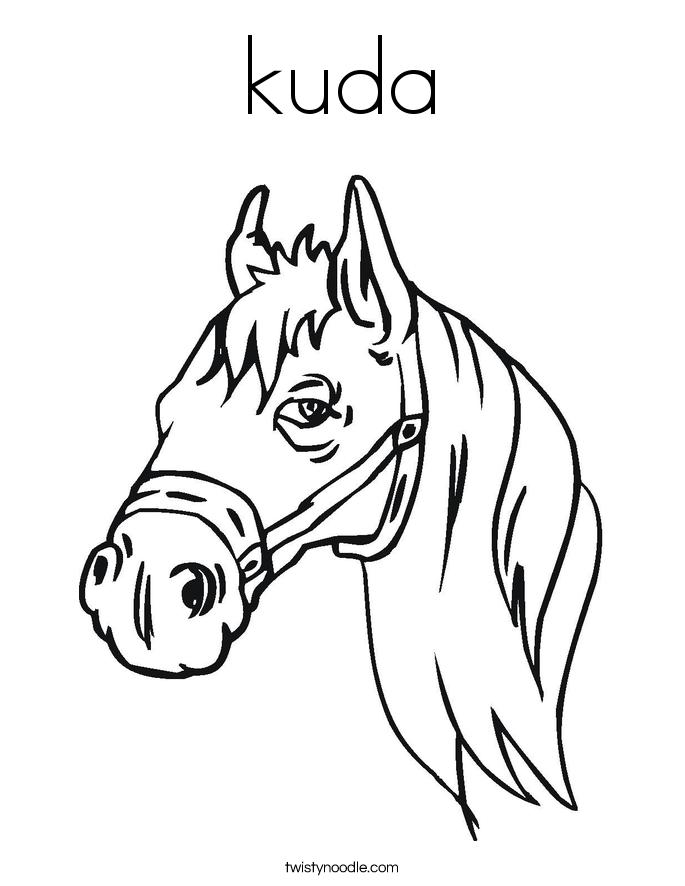 kuda Coloring Page