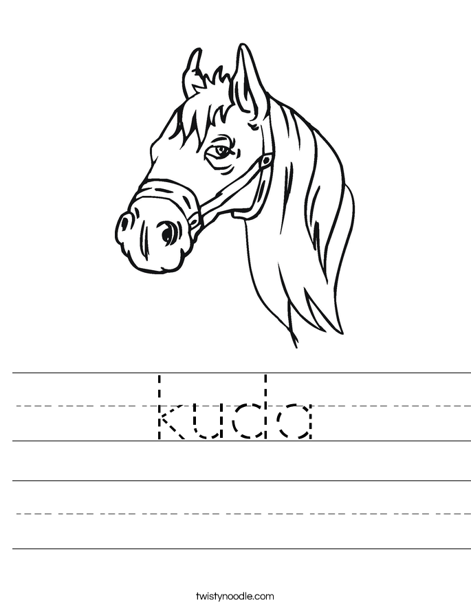 kuda Worksheet