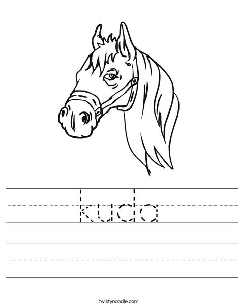 Horse Head Worksheet
