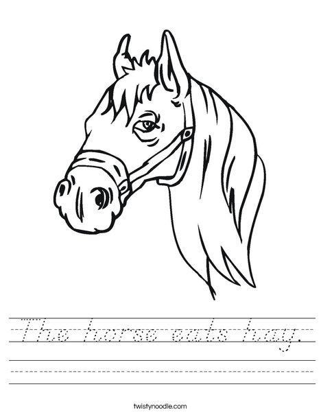 Horse Head Worksheet