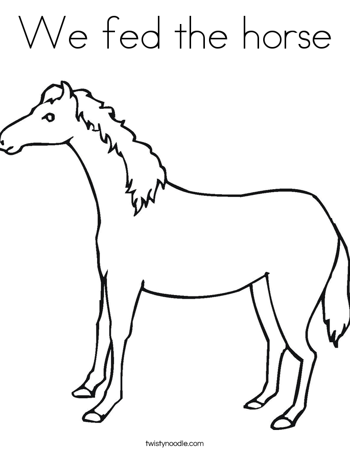 We fed the horse Coloring Page