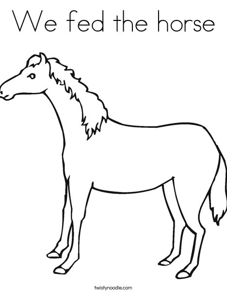 Brown Horse Coloring Page
