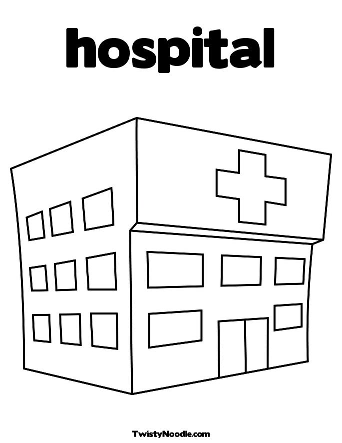 coloring pages hospital theme - photo#17
