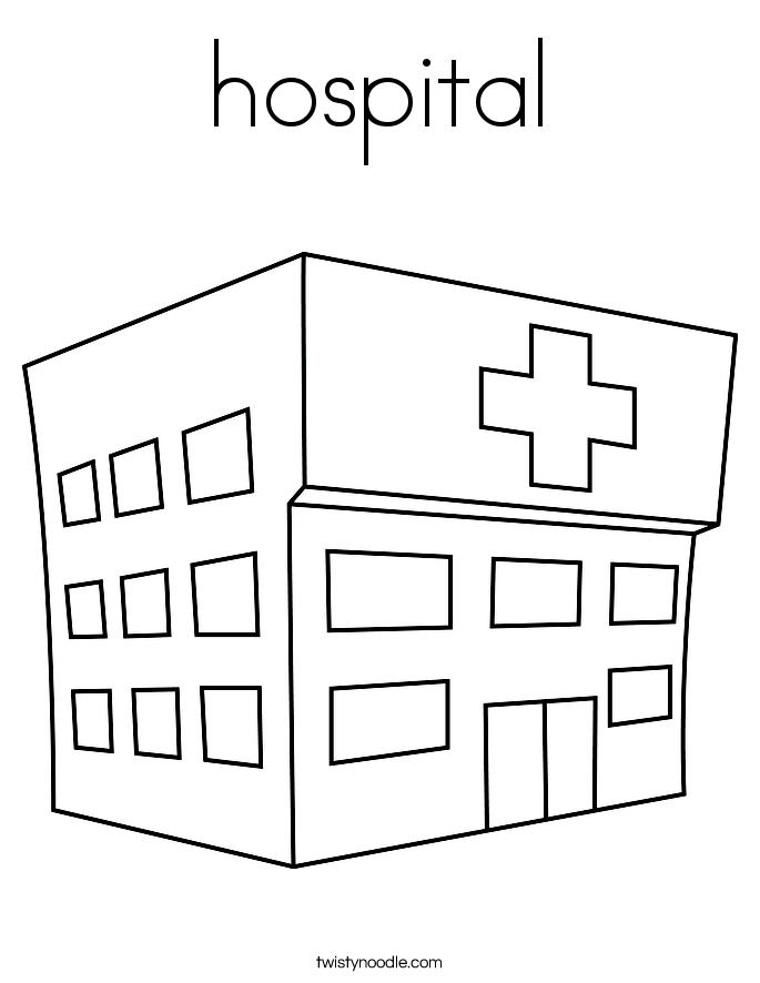 hospital coloring page twisty noodle rh twistynoodle com coloring pages hospital building coloring pages hospital building