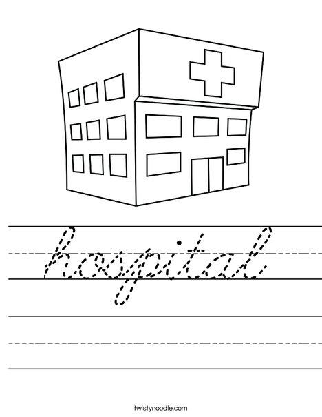 Hospital Worksheet