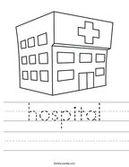 hospital Handwriting Sheet