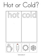 Hot or Cold Coloring Page