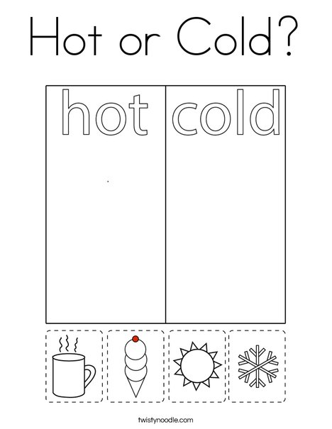 Hot or Cold? Coloring Page