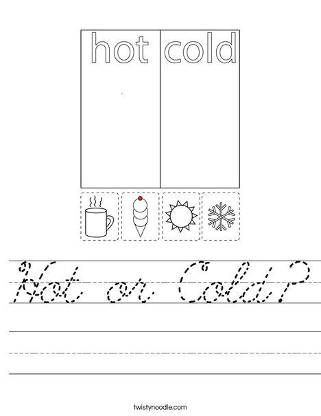 Hot or Cold? Worksheet