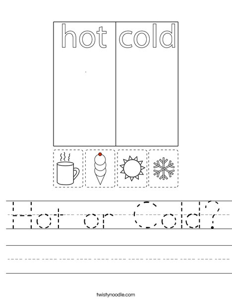 Hot or Cold? Worksheet