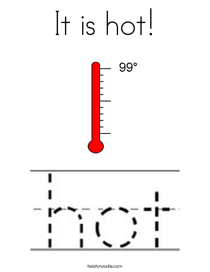 It is hot! Coloring Page