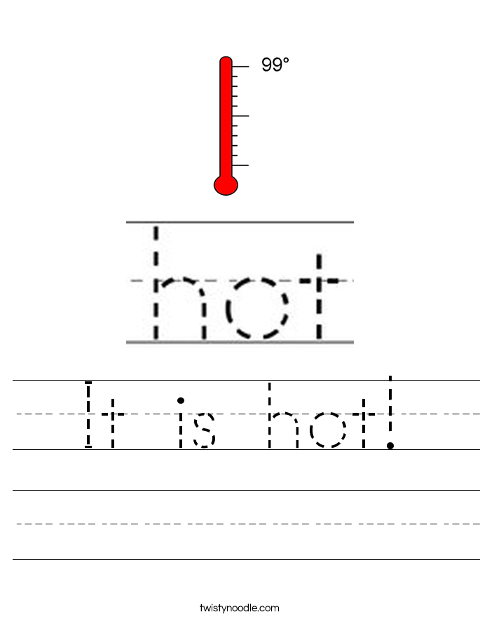 It is hot! Worksheet