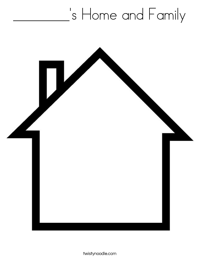 ________'s Home and Family Coloring Page