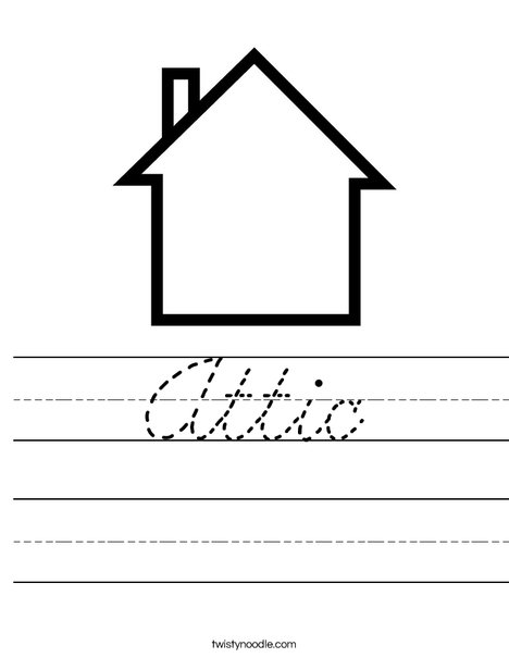 Blank House Worksheet