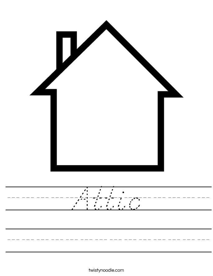Attic Worksheet