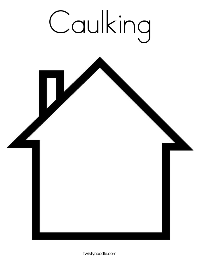 Caulking Coloring Page