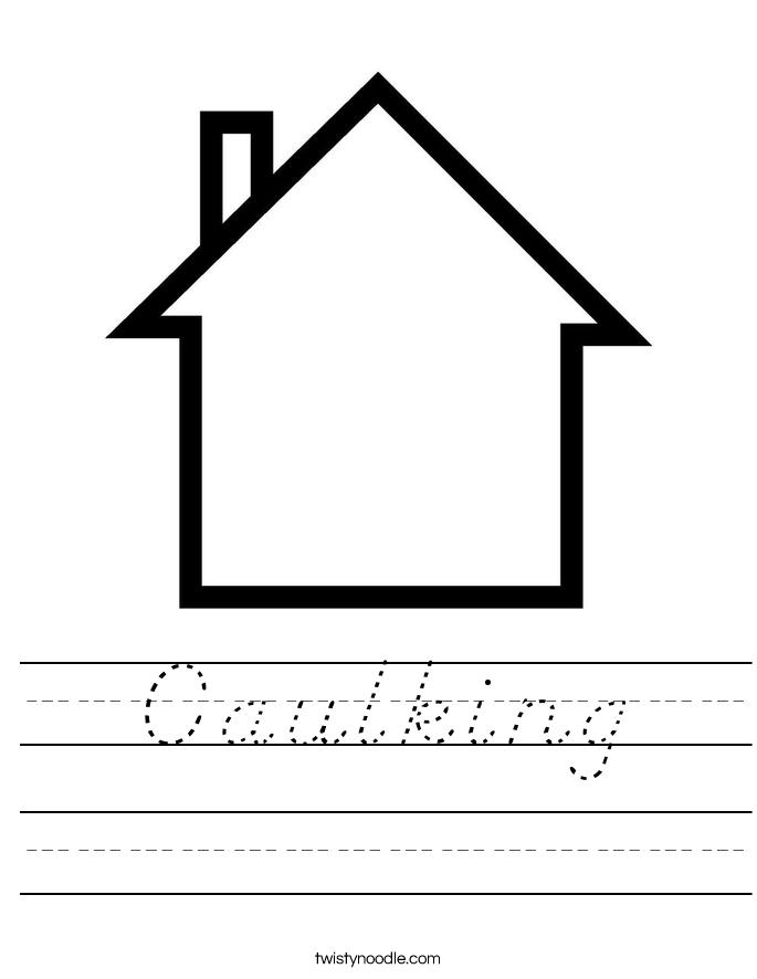 Caulking Worksheet