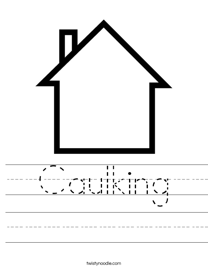 Caulking Worksheet