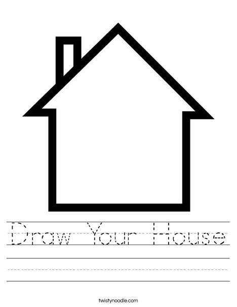 blank house worksheet - Draw Your House