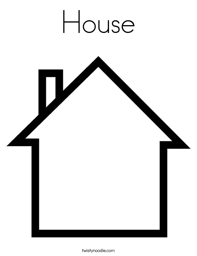 Coloring Pages Of House. House Coloring Page Pages  Twisty Noodle