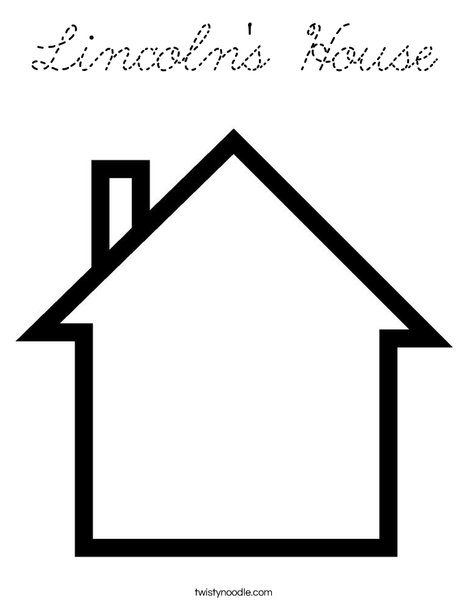 Blank House Coloring Page