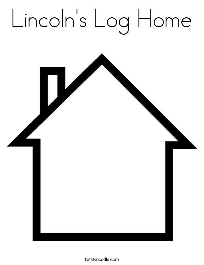 Lincoln's Log Home Coloring Page