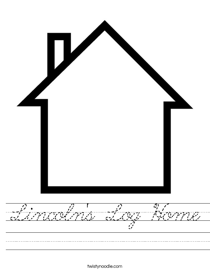 Lincoln's Log Home Worksheet