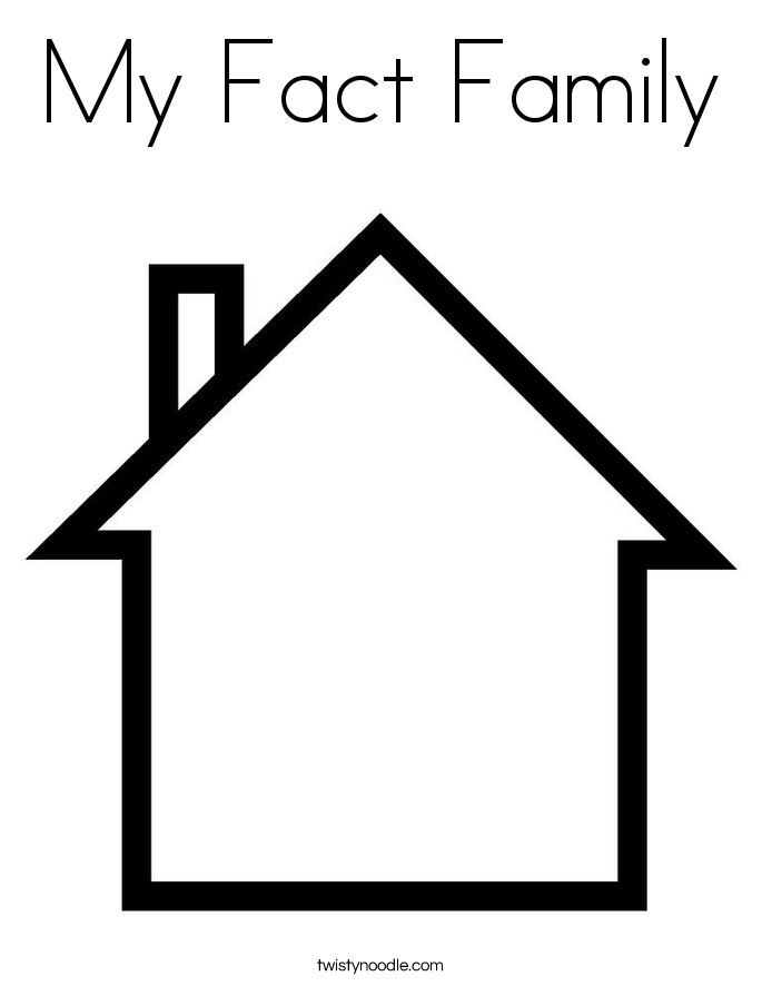 My Fact Family Coloring Page