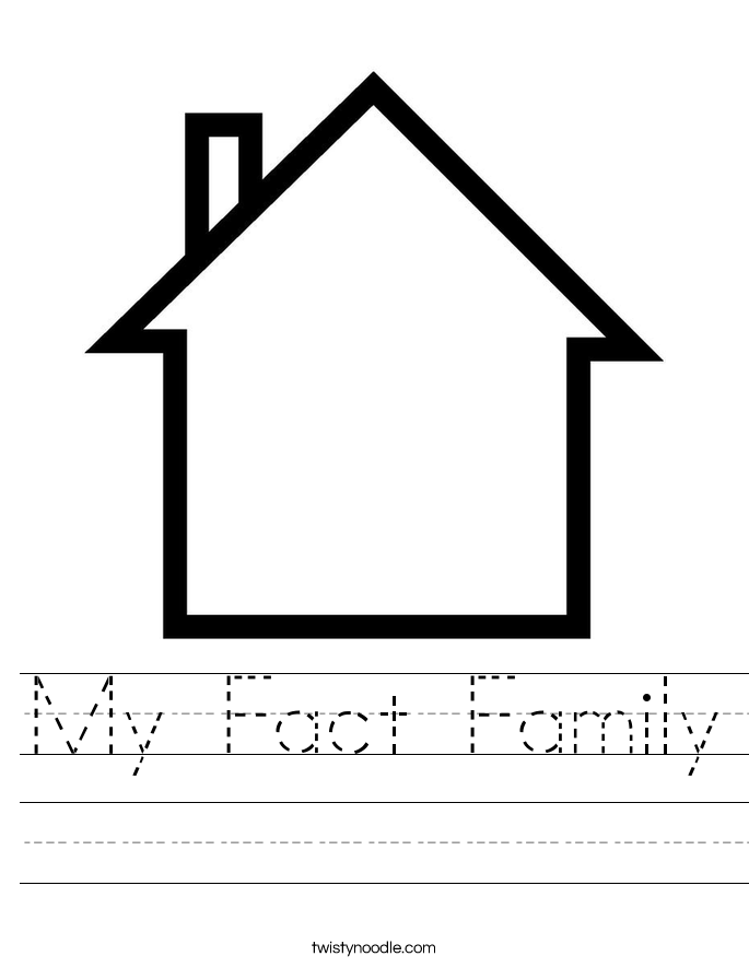 My Fact Family Worksheet Twisty Noodle – Fact Family Worksheets