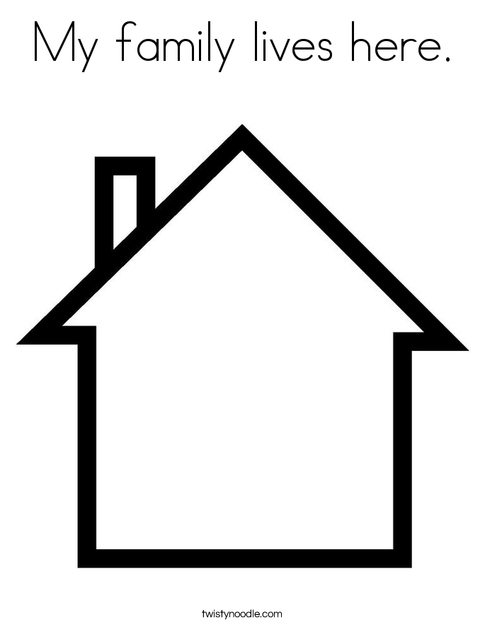 My family lives here. Coloring Page