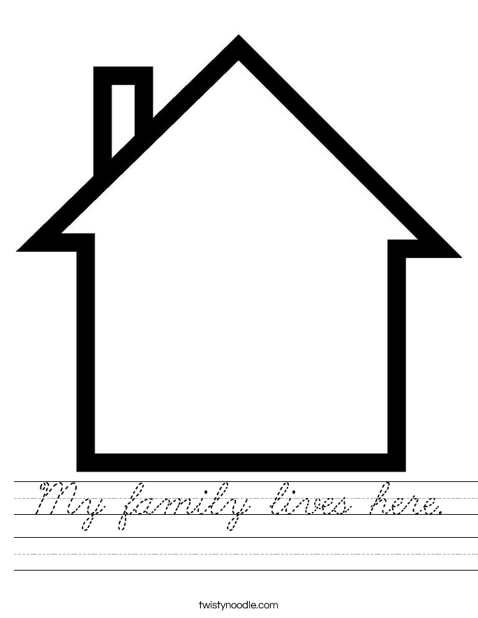 My family lives here. Worksheet