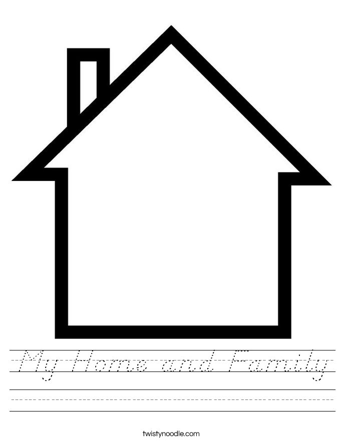 My Home and Family Worksheet