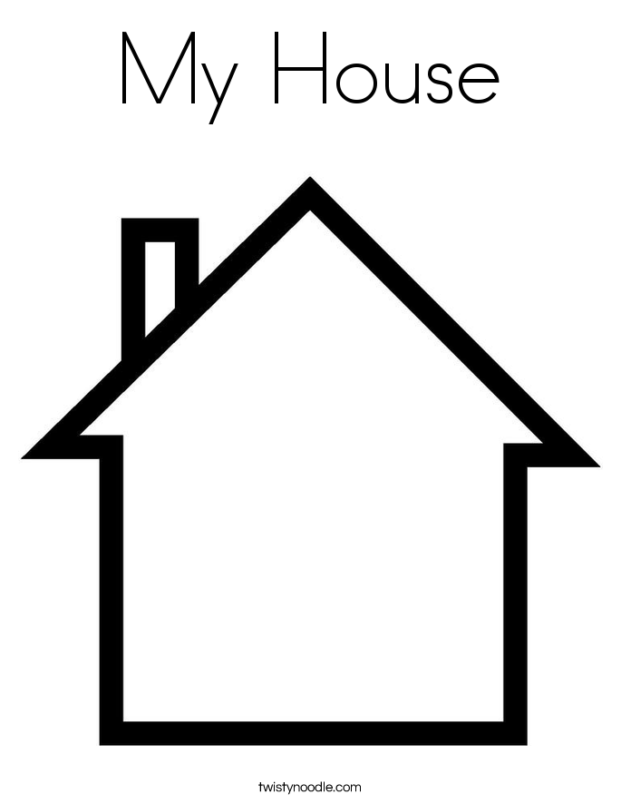My House Coloring Page