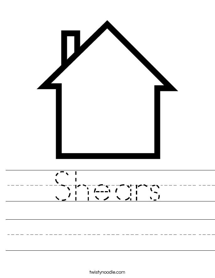 Shears Worksheet