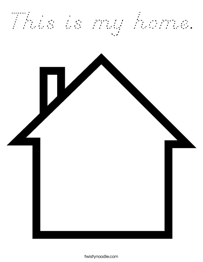 This is my home. Coloring Page