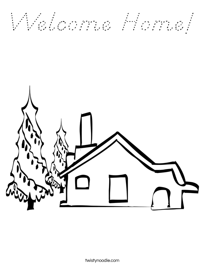 Welcome Home! Coloring Page